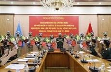 越南增派10名军官参加联合国维和行动