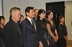 原越共中央总书记黎可漂吊唁仪式在挪威举行
