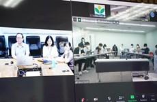 越南中央儿童医院为日本帝京大学举行在线医学培训交流会