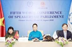 第五次世界议长大会通过有关发挥议会领导力,强化多边主义的宣言