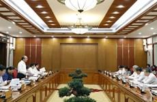 越共中央政治局与中央直属的67个党部中的15个党部举行了工作会议