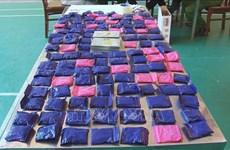 非法将毒品从老挝偷运进越南的四名犯罪嫌疑人被抓