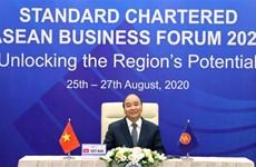 越南政府总理阮春福出席2020年渣打银行东盟商业论坛