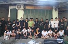 老街省逮捕21名中国通缉犯