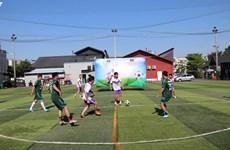 越南国庆节75周年:越南驻柬大使馆举行足球友谊赛