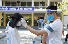 岘港市对参加2020年第二阶段高中毕业考试近1.1万名考生进行新冠病毒检测