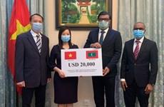 越南为马尔代夫捐赠防疫资金