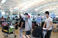 逾405名在韩国的越南公民安全抵达新山一国际机场