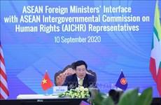 东盟外长与东盟政府间人权委员会进行对话