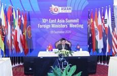 第10届东亚峰会外长会:各伙伴国高度评价越南作为2020年东盟轮值主席国的作用
