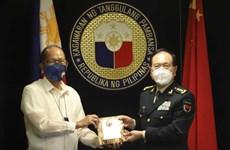 菲律宾总统会见中国国防部长
