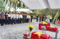 渭川县国家烈士陵园为烈士遗骸举行追掉会和安葬仪式