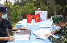 越南奠边省边防部队与中国云南出入境边防检查总站举行现场会谈