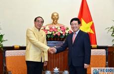 越南政府副总理兼外长范平明会见泰国驻越大使