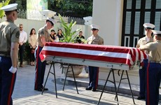 美军遗骸回国仪式在河内举行