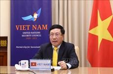 越南政府副总理兼外长范平明出席联合国安理会视频首脑会议