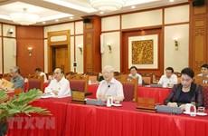 迎接党的十三大:越共中央政治局就2020-2025年任期党代表大会准备工作与所有中央直属党委进行分组讨论