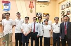 参加越南国际数学奥林匹克竞赛的六名越南学生均获奖