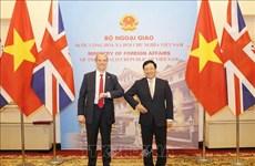 越南政府副总理兼外长范平明同英国外交发展大臣举行会谈
