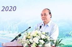 阮春福总理出席梅山高速公路-第45号国道项目开工仪式