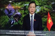 越南自然资源与环境部长在联合国生物多样性峰会上发表讲话