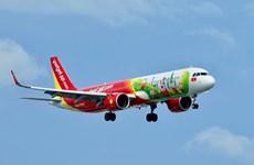 国际航线正式恢复 越捷航空执行飞往韩国的首两趟定期航班