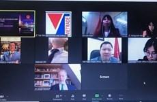 越南与南共市贸易促进会以视频方式召开