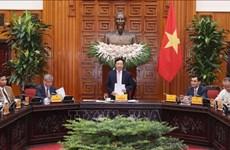 政府副总理兼外长范平明会见越南-东盟经济合作发展协会企业代表团