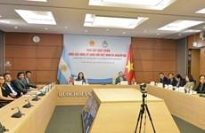 越南国会代表与阿根廷议会议员就妇女权益举行在线座谈会