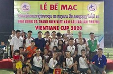 2020年万象越南青年足球比赛加强在老越南人之间的团结