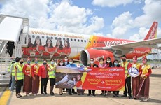 曼谷至乌汶府航线首飞成功 越捷航空在泰国境内航线上推出零泰铢机票