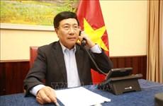  越南政府副总理兼外长范平明同马尔代夫共和国外长通电话