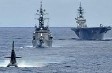 日本海上自卫队三艘军舰抵达越南金兰国际港