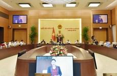国会常委会第49次会议:就国会关于胡志明市的城市政府组织决议草案交换意见