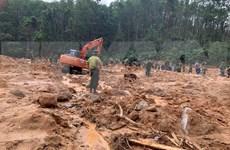 捞庄三号水电站山地区体滑坡事件:发现被泥土掩埋的三具尸体