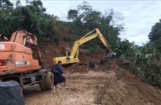 广治省向化县泥石流事故:22名干部与战士被掩埋