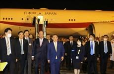 日本首相与夫人开始对越南进行正式访问