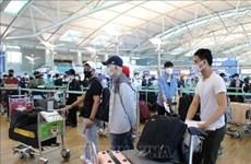 在韩国近450名越南公民安全回国