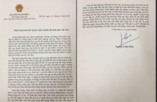 越南政府总理阮春福致信越南人民军全体干部和战士