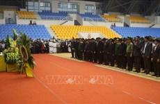 在广治省向化县山体滑坡事件中牺牲的22名干部战士吊唁仪式和追悼会隆重举行