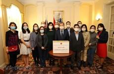旅居英国的越南人继续为中部地区灾民开展捐款活动