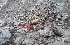 广治省集中处理在洪灾过后所发现的炸弹和地雷