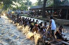 朔庄省高棉族同胞与2020年赛龙舟
