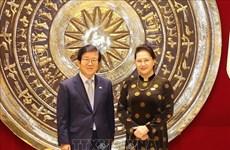 韩国媒体:韩国国会议长朴炳锡希望提升韩越关系水平