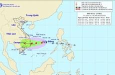 受第十二号台风影响 今日下午广治至庆和一带遭大雨袭击