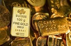 10日上午越南国内黄金价格在每两5600万越盾左右徘徊
