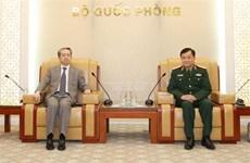 越南国防部副部长黄春战会见中国驻越大使熊波