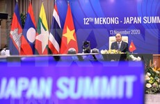 ASEAN 2020:第12届湄公河流域国家与日本峰会在河内举行