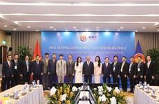 越南政府总理阮春福会见第37届东盟峰会赞助商