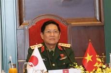 越南国防部长吴春历与日本防卫大臣岸信夫举行电话会谈